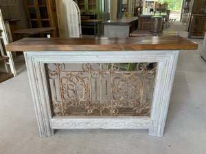 Iron Console made using French Front Door Transom