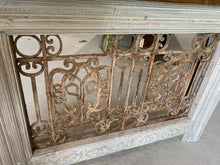 Load image into Gallery viewer, Iron Console made using French Front Door Transom