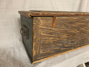1860's Hand-Painted European Pine Trunk