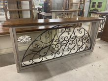 Load image into Gallery viewer, Iron Console made from French Hotel transom