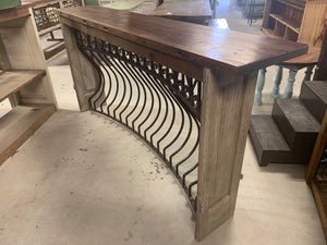 Iron Console made out of French Balcony