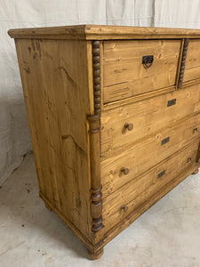 Antique European Pine Chest of Drawers