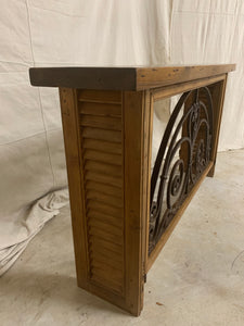 Console made from 1880's French Iron Door Transom