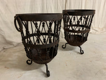 Load image into Gallery viewer, Pair of Iron Baskets