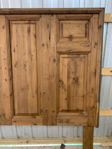 King Headboard made of 1880's French doors