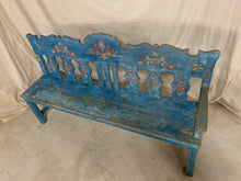 Load image into Gallery viewer, Hand Painted European Corner Bench