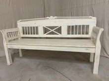 Load image into Gallery viewer, European Pine Bench- White