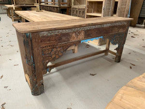 Teak Hand-carved Console