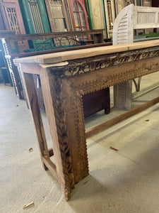 Hand-Carved Teak Console