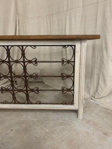 Console made from 1890's French Iron and Panels
