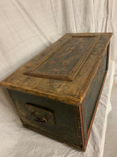 Load image into Gallery viewer, 1860's Hand-Painted European Pine Trunk
