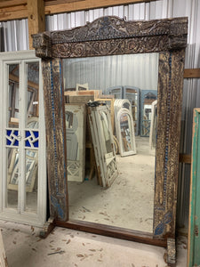Teak Floor Length Mirror