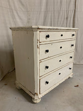 Load image into Gallery viewer, Pine Chest of Drawers with original white paint