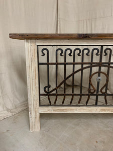 Iron Console made with French Iron and Shutter Panels