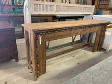 Load image into Gallery viewer, Hand-Carved Teak Console