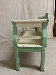 1880's European Pine Painted Bench