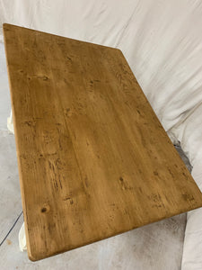 Pine Table/Desk with X-Stretcher Base