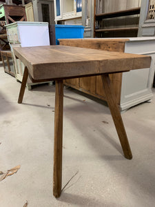 Butcher block tall console table