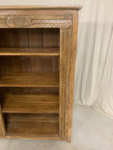Load image into Gallery viewer, Carved Teak Bookshelf