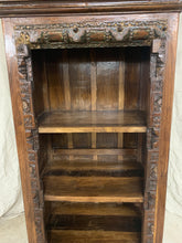 Load image into Gallery viewer, Tall Teak Carved Bookshelf