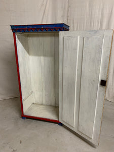 Hand Painted Eastern European Cupboard