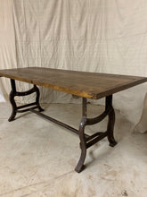 Load image into Gallery viewer, Pine Dining Table with Industrial Base