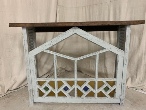 Console made from 1890's French Church Window