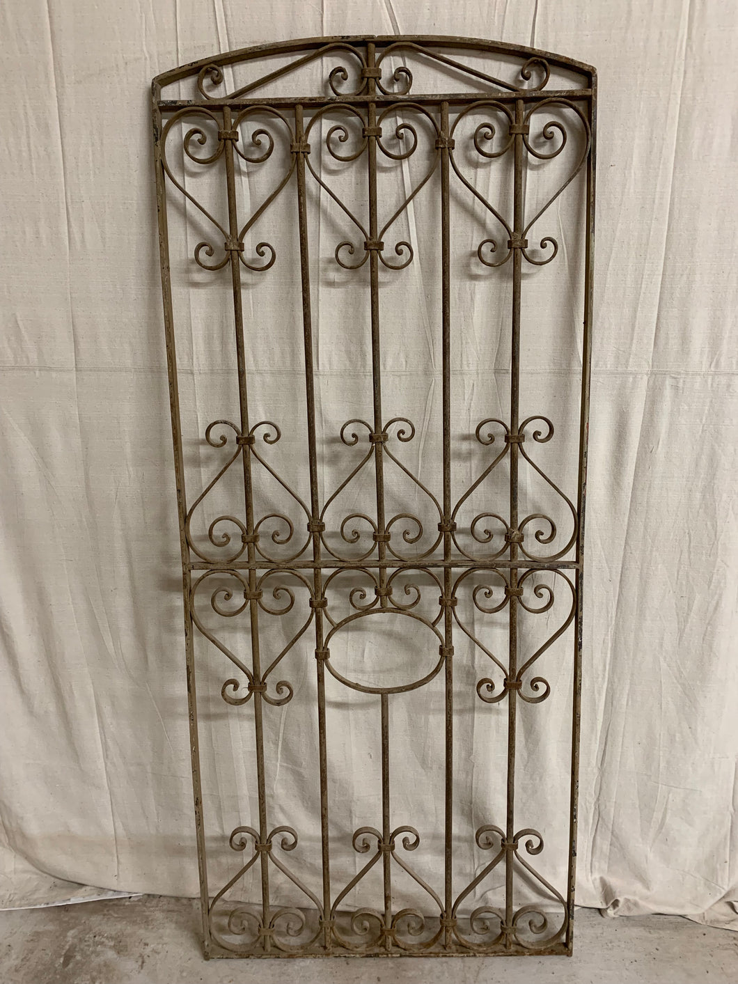 French Iron Panel with Rare Arch