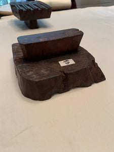 Antique Wooden Fabric Block (set of 3)
