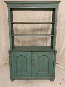 Antique Pine Cabinet with Shelves