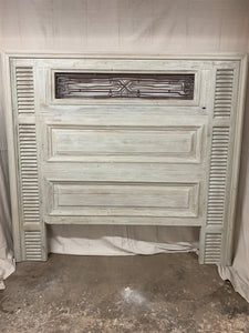 King Headboard- French Iron, Door and shutters