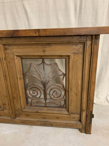 Console made of French Door Iron