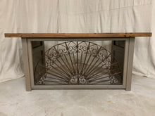 Load image into Gallery viewer, Desk/Table made of French Arch Iron and Door sides