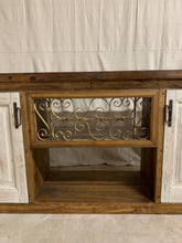 Load image into Gallery viewer, Console/Cabinet made with French Doors and Iron