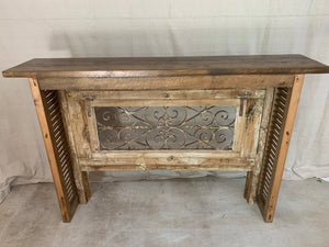 Console made from French Front Door