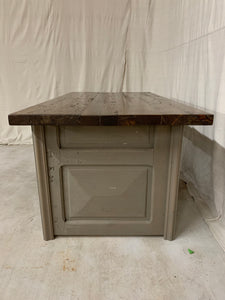 Desk/Table made of French Arch Iron and Door sides