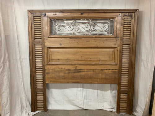 King Headboard- French Shutters, doors and Shutters