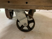 Load image into Gallery viewer, Vintage American Industrial Cart/Coffee Table