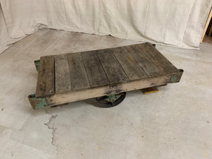 Vintage American Industrial Cart/Coffee Table