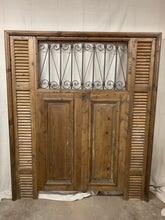 Load image into Gallery viewer, Queen Headboard- French Iron, doors & Shutters