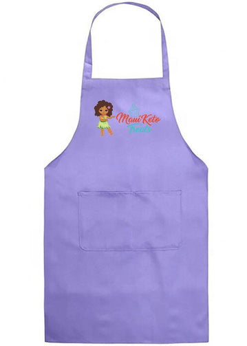 Maui Keto Treats custom Purple /Violet Premium Deluxe Adjustable Apron with 2 Pockets - Maui Keto Treats