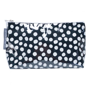 Travel cosmetic bag // Black or pink spotted