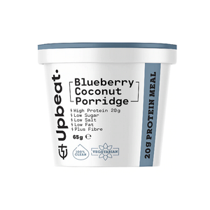 Blueberry porridge // high protein snack