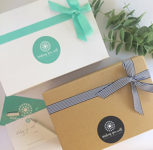 Gift box options for Wishing You Well gift boxes and care packages