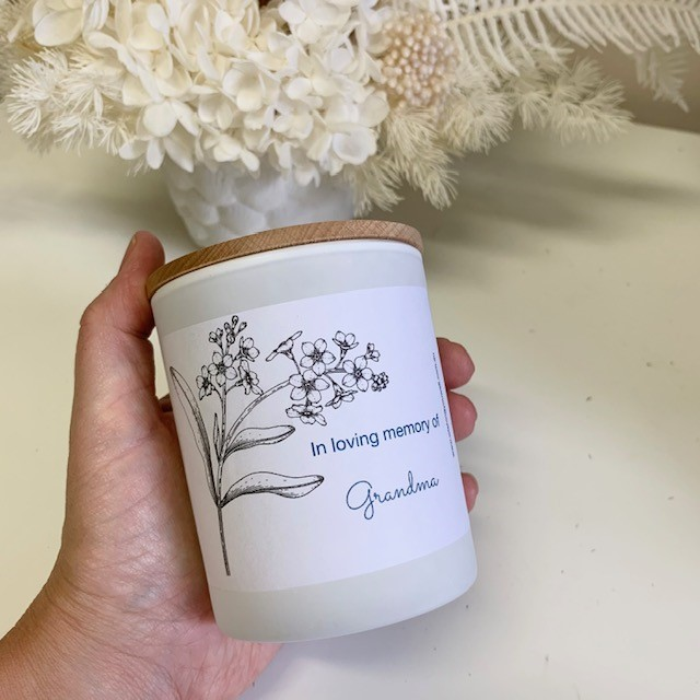 In loving memory candle // customise name