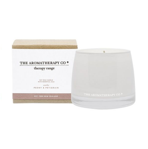 The Aromatherapy company therapy range candle / peony and petigrain