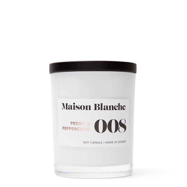 008 Peony & peppercorn candle // Maison Blanche