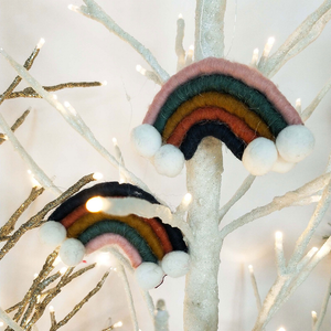 Rainbow felt Christmas ornament