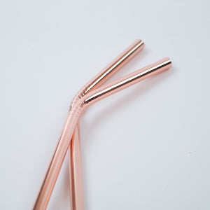 Ever Eco rose gold straws (bent) // 2 pack