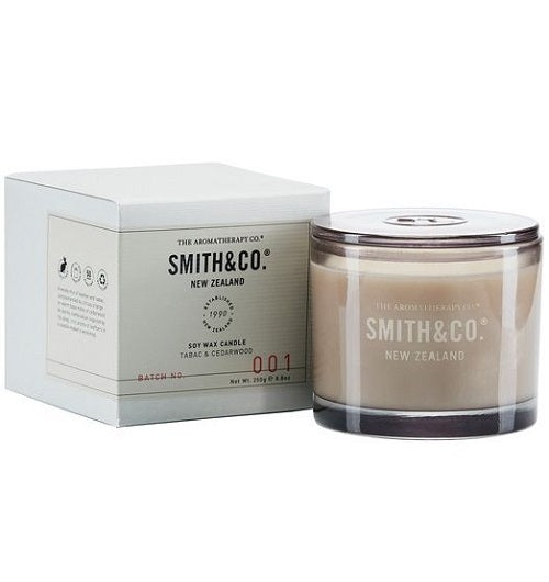 Smith & Co candle // tabac & cedarwood
